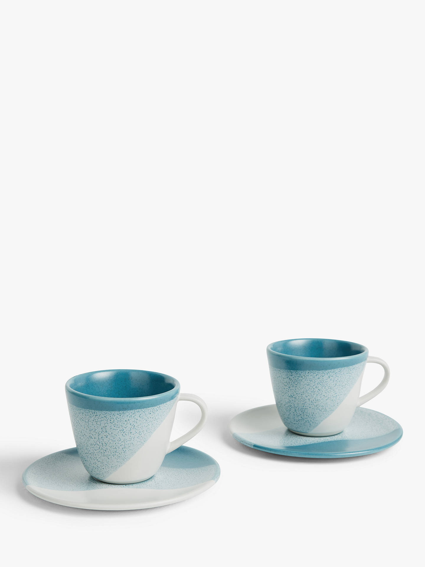 Buy LEON Supper Club Espresso Cup & Saucer, 100ml, Set of 2, Teal Online at johnlewis.com