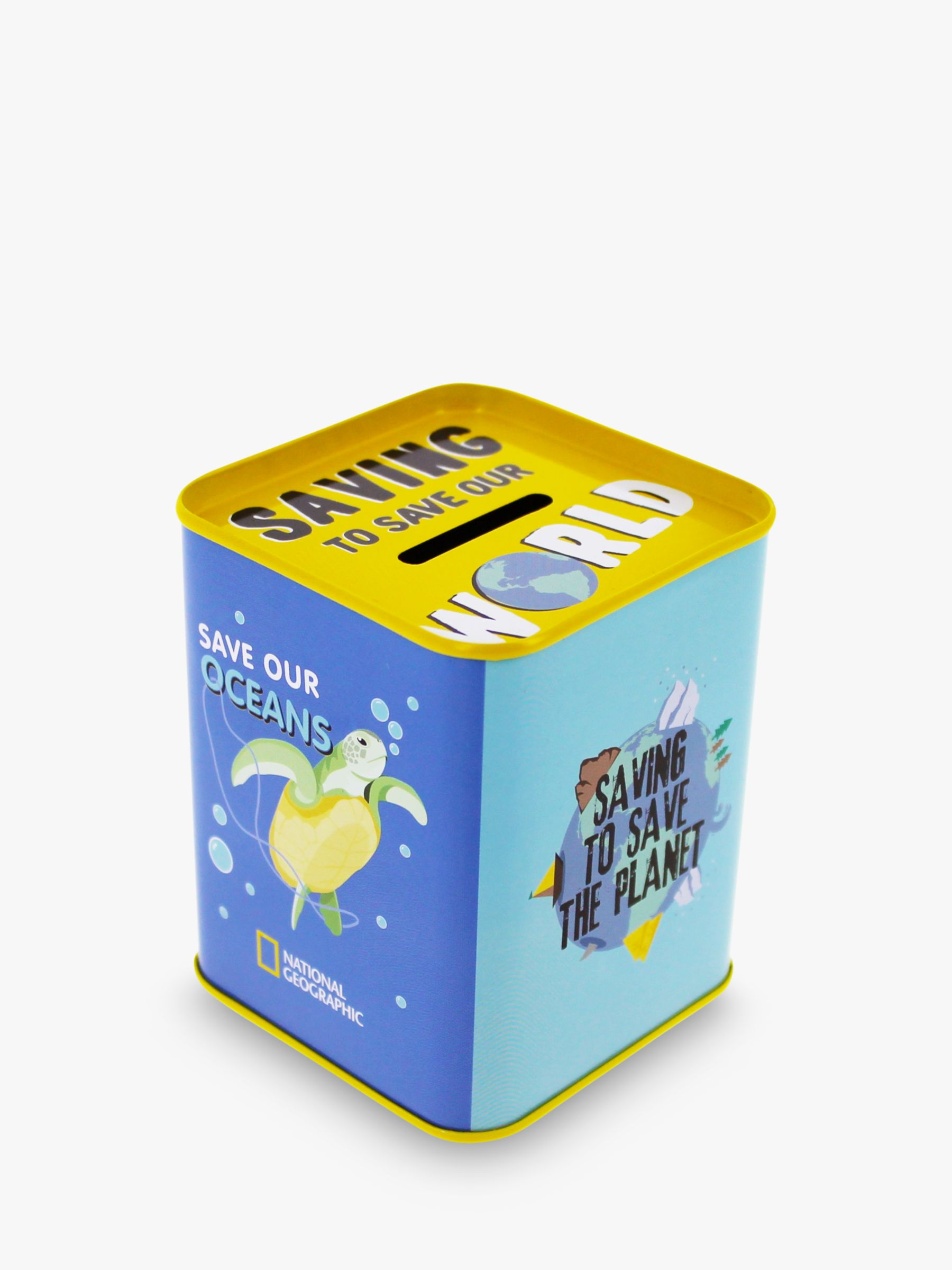 National Geographic National Geographic Save Our Oceans Tin Money Box