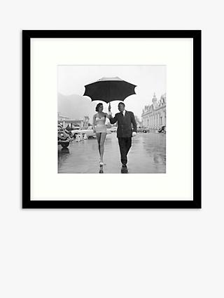 Getty Images - Monte Carlo Rain Wood Framed Print & Mount, 59.5 x 59.5cm