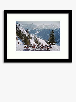 Getty Images - Slim Aarons 'Lounging In Gstaad' Wood Framed Print & Mount, 44.5 x 59.5cm