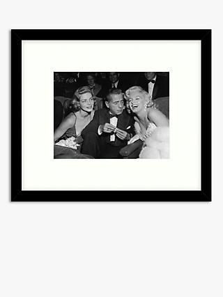 Getty Images - Hollywood Star Trio Wood Framed Print & Mount, 49.5 x 57.5cm