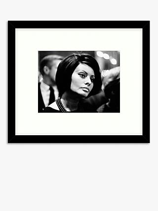 Getty Images - Sophia Loren Wood Framed Print & Mount, 49.5 x 57.5cm