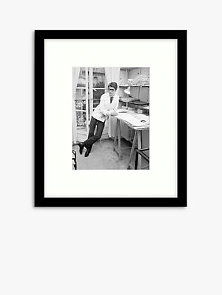 Getty Images - Yves Saint-Laurent Wood Framed Print & Mount, 57.5 x 49.5cm