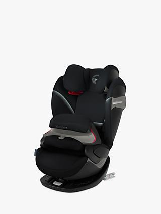 Cybex Pallas S-Fix Group 1/2/3 Car Seat, Deep Black