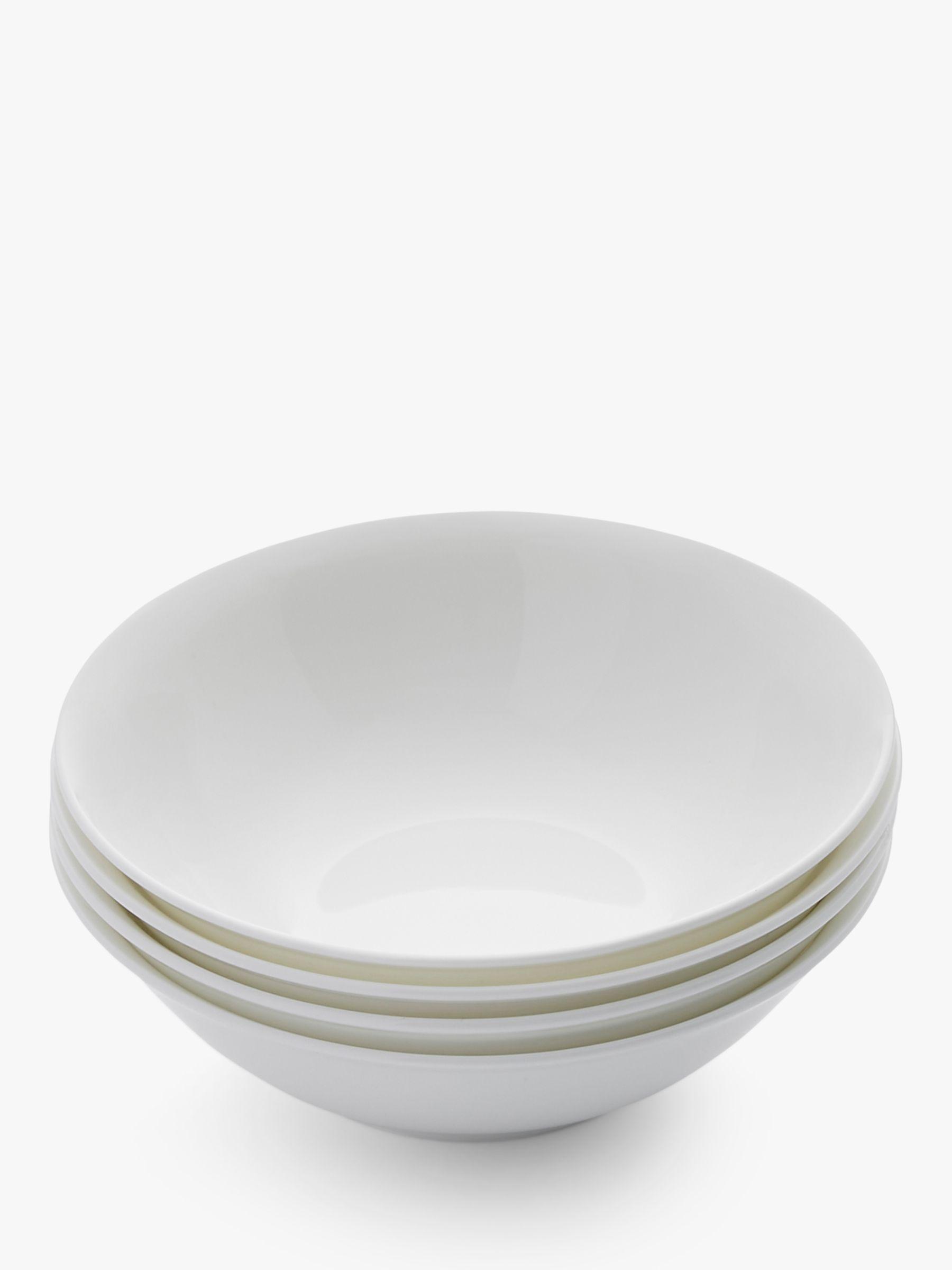 Royal Worcester Royal Worcester Serendipity Bone China Cereal Bowls, 16cm, Set of 4, White