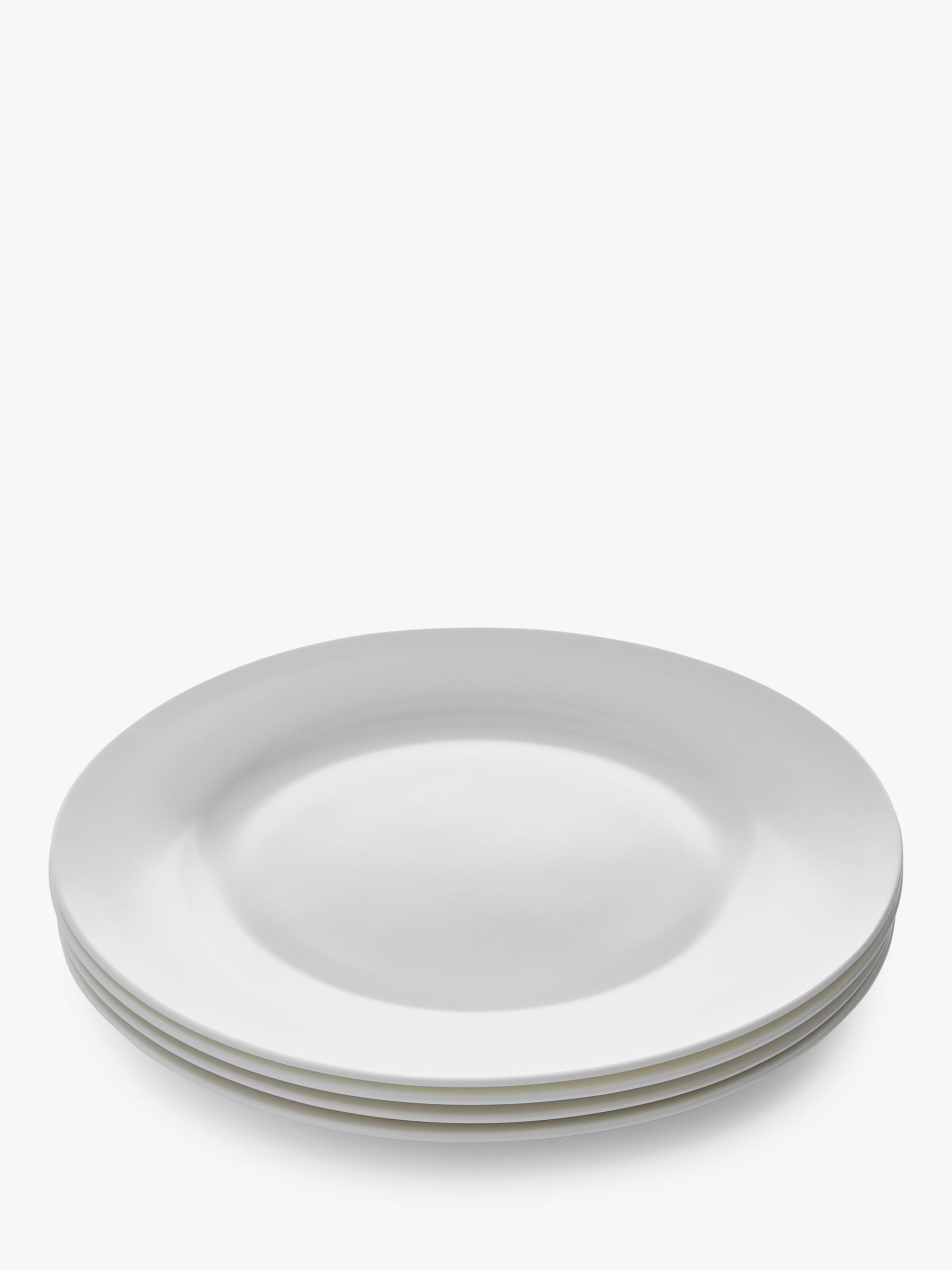 Royal Worcester Royal Worcester Serendipity Bone China Dinner Plates, 27cm, Set of 4, White