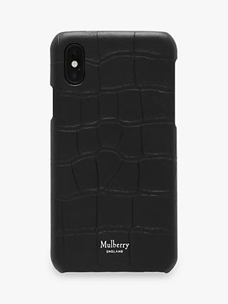 Mulberry Croc Embossed Leather iPhone X/XS