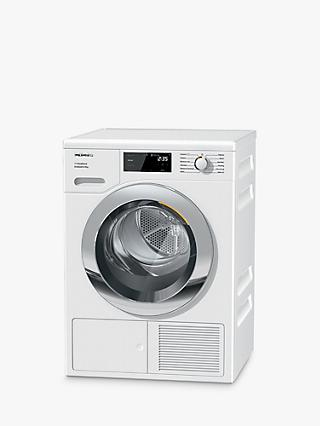 Miele TEF645 WP Heat Pump Tumble Dryer, 8kg Load, A+++ Energy Rating, White