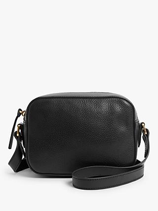 John Lewis & Partners Leather Camera Cross Body Bag