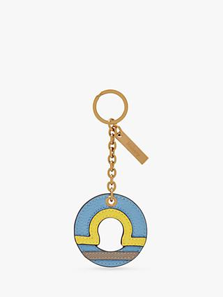 Mulberry Leather Zodiac Keyring