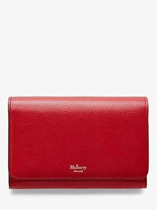 Mulberry Continental Small Classic Grain Leather Medium French Purse