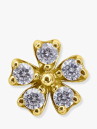 CARAT* London Freya 9ct Gold Floral Single Stud Earring, Gold