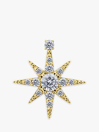 CARAT* London Polaris 9ct Gold Star Single Stud Earring, Gold