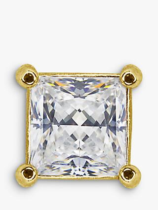 CARAT* London Maho 9ct Gold Square Single Stud Earring, Gold