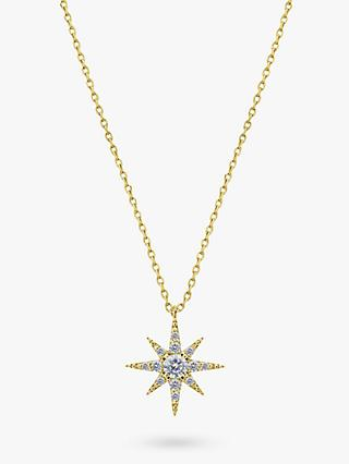 CARAT* London Polaris 9ct Gold Star Pendant Necklace, Gold