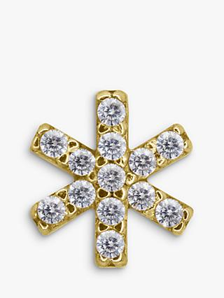 CARAT* London Eri 9ct Gold Floral Single Stud Earring, Gold