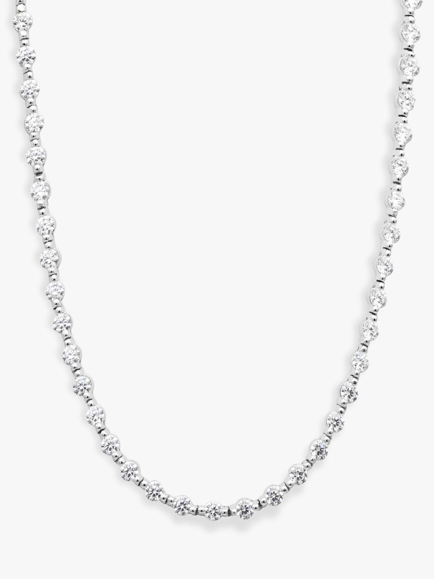 CARAT* London Coralie Round Stone Tennis Chain Necklace
