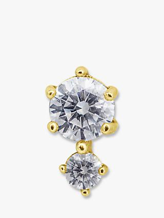 CARAT* London Ume 9ct Gold Round Single Stud Earring, Gold