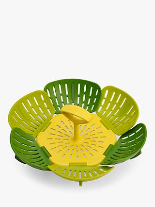 Joseph Joseph Bloom Folding Steamer Basket, Green