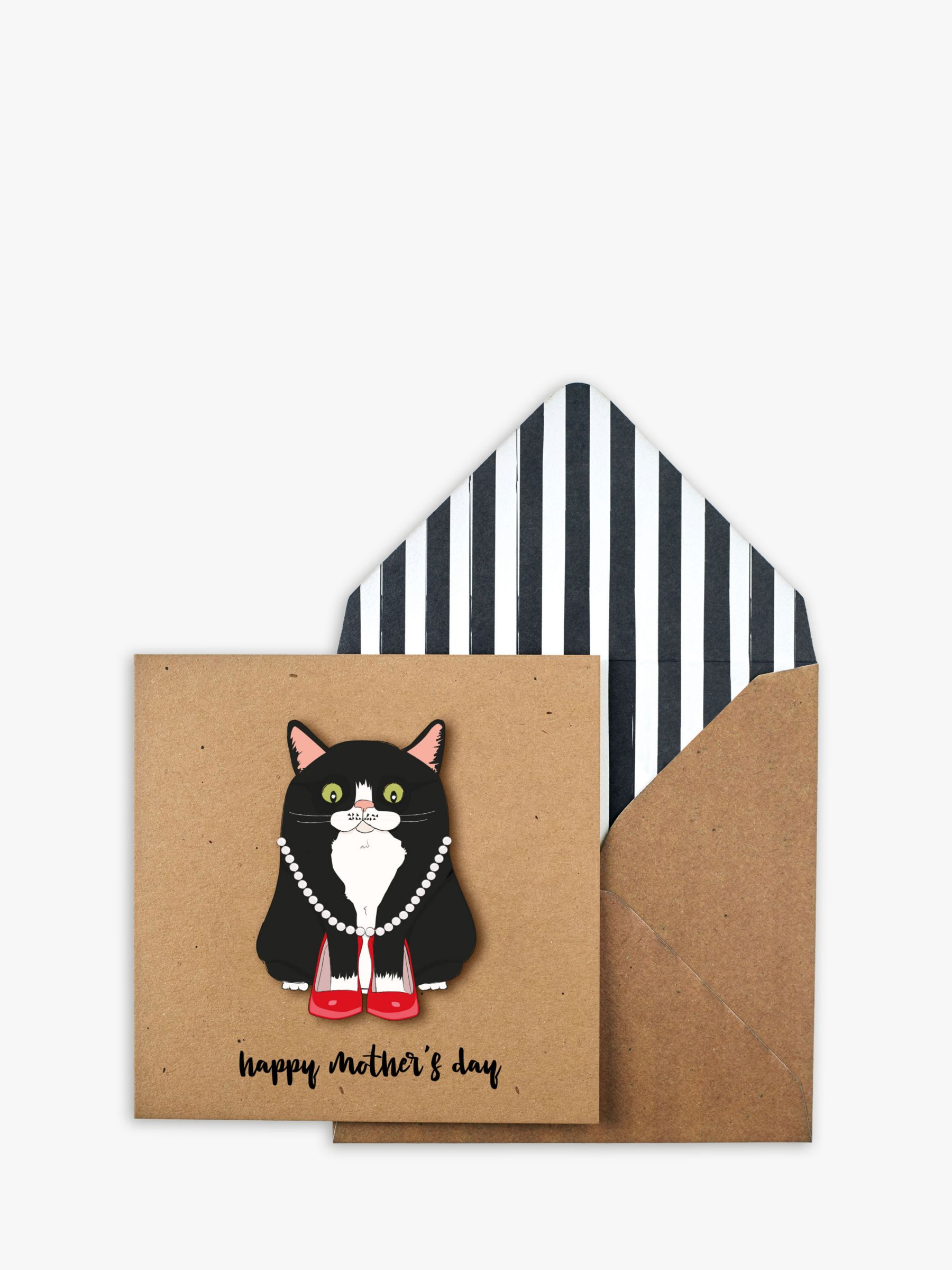 Tache Crafts Tache Crafts Black Cat Mother's Day Card