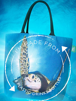Buy BBC Earth Recycled Plastic Turtle Shopper Tote Bag Online at johnlewis.com