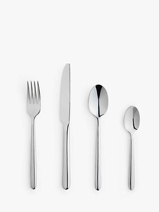 House by John Lewis Cutlery Set with Teaspoon Set, 6 Place Settings (bundle)