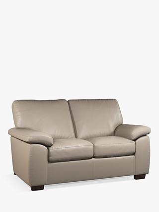 John Lewis & Partners Camden Small 2 Seater Leather Sofa, Dark Leg