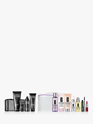 Clinique for Men Better Basics for Men Skincare Gift Set Bundle with Fan Favourites Set