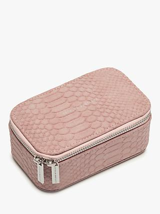 Estella Bartlett Snake Texture Jewellery Box, Blush
