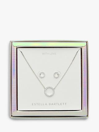 Estella Bartlett With Love Pendant Necklace and Earrings Jewellery Box Set