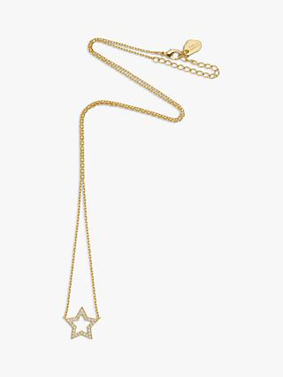 Estella Bartlett Cubic Zirconia Open Star Pendant Necklace, Gold
