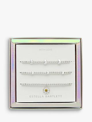 Estella Bartlett Wildflower Bracelet Jewellery Set, Silver