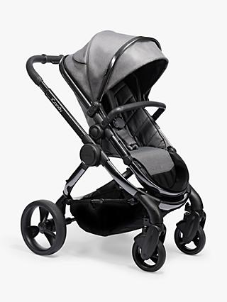 iCandy Peach Phantom Pushchair and Carrycot, Dark Grey Twill