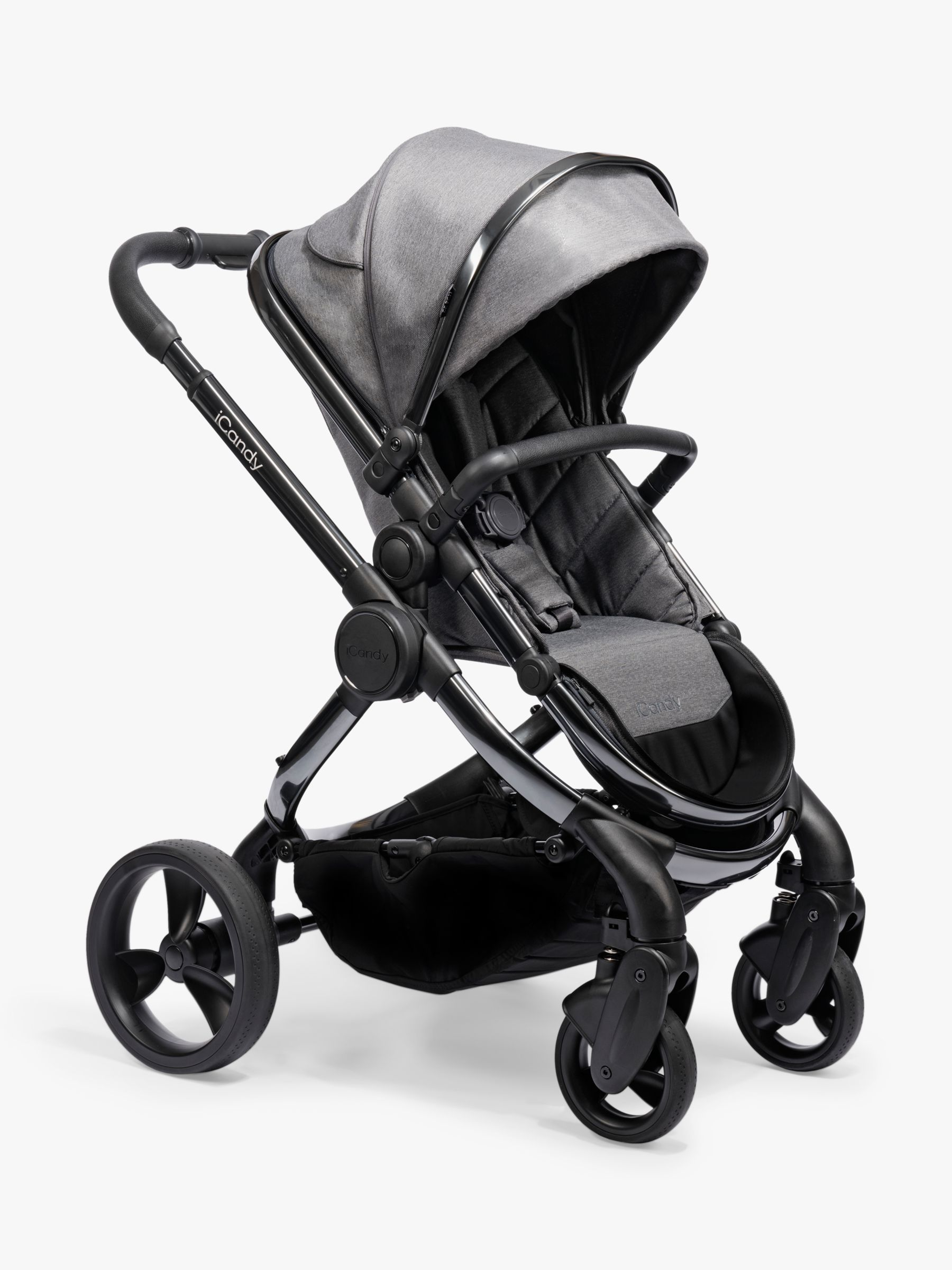 iCandy iCandy Peach Phantom Pushchair and Carrycot, Dark Grey Twill