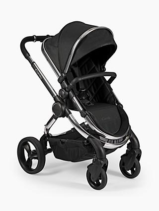 iCandy Peach Chrome Pushchair and Carrycot, Black Twill