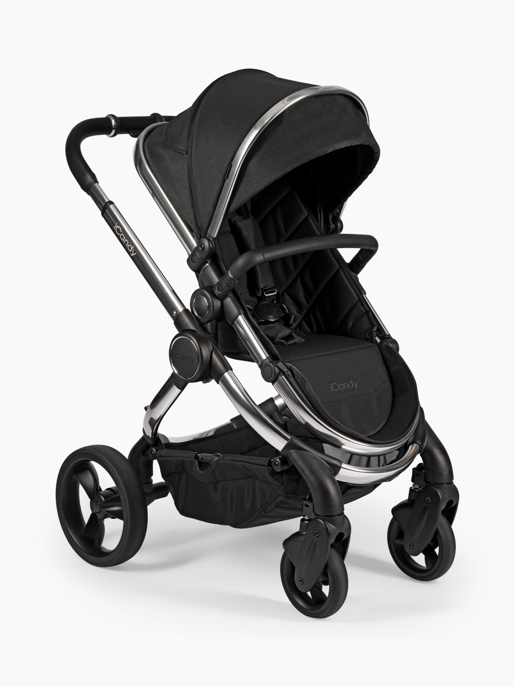 iCandy iCandy Peach Chrome Pushchair and Carrycot, Black Twill