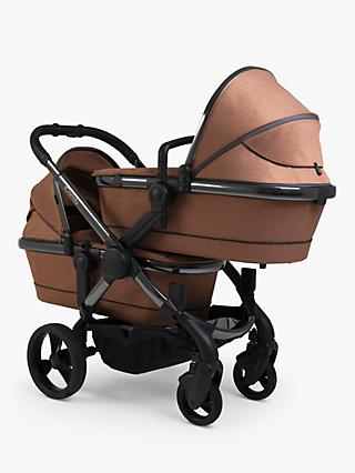 iCandy Peach Twin Phantom Pushchair, Terracotta Twill
