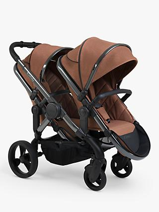 iCandy Peach Phantom Double Pushchair, Terracotta Twill