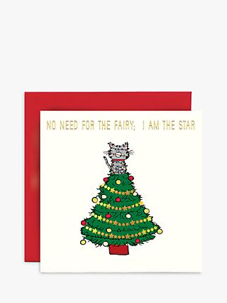 Susan O'Hanlon Cat Star Christmas Card