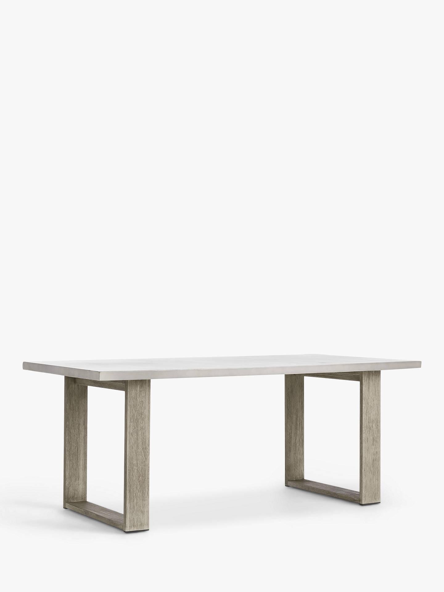 West Elm Portside 6 Seat Concrete Top Garden Dining Table Fsc