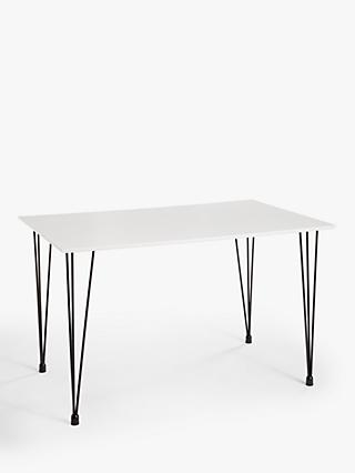 House by John Lewis Crescent 4 Seater Dining Table, White