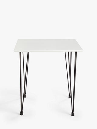 Buy ANYDAY John Lewis & Partners Crescent 2 Seater Dining Table, White Online at johnlewis.com