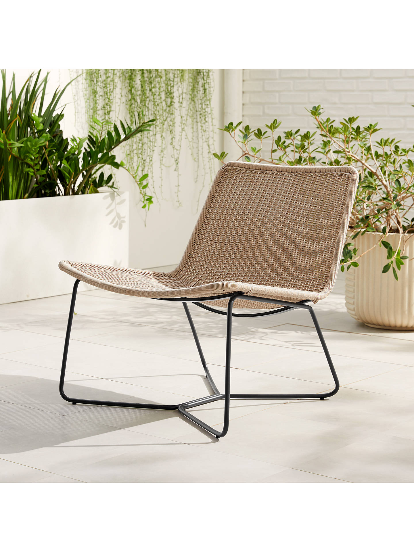west elm Slope Garden Lounge Chair, Brown