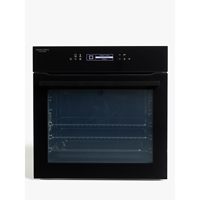 John Lewis & Partners JLBIOSB650 Single Electric Oven, A+ Energy Rating, Black