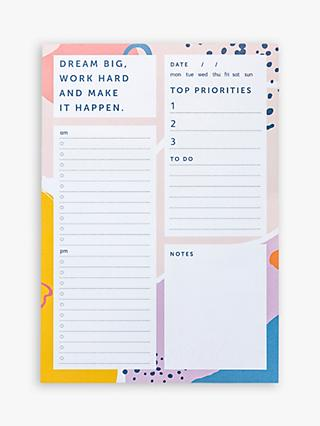 Busy B A5 Geometric List & Reminders Pad