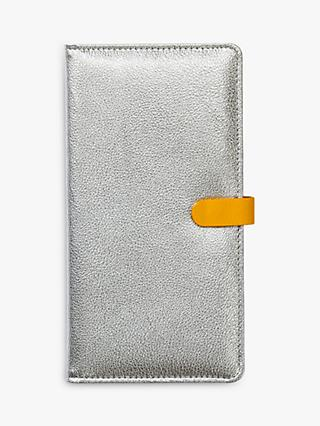 Busy B Travel Wallet, Silver/Yellow
