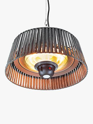 KETTLER Kalos Plush Hanging Pendant Electric Patio Heater, Grey