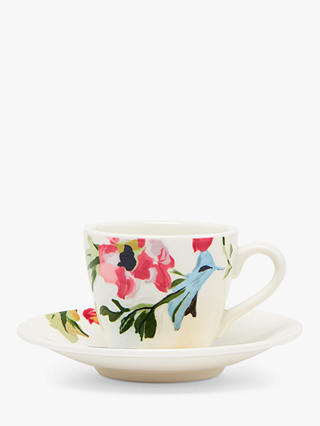 Buy Joules Cambridge Floral Espresso Cup & Saucer, 85ml, White/Multi Online at johnlewis.com
