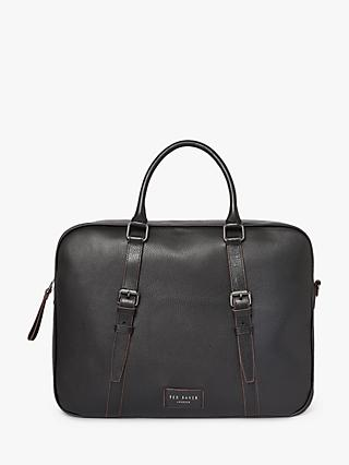 Ted Baker Hooston Leather Document Bag, Black
