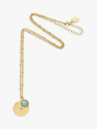 Estella Bartlett Star Token Disc Pendant Necklace, Gold/Blue